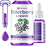 True Recovery Organic Elderberry Liquid - 200mg of Powerful Antioxidants and Immune System Support. Zero Added Sugar…