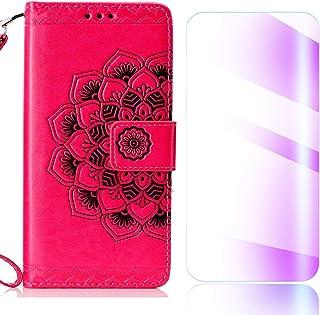 Coque Huawei P30, The Grafu® Étui Portefeuille Flip Coque de Protection avec Gratuit Protection D'écran en Verre Trempé, Magnetic Housse pour Huawei P30, Noir