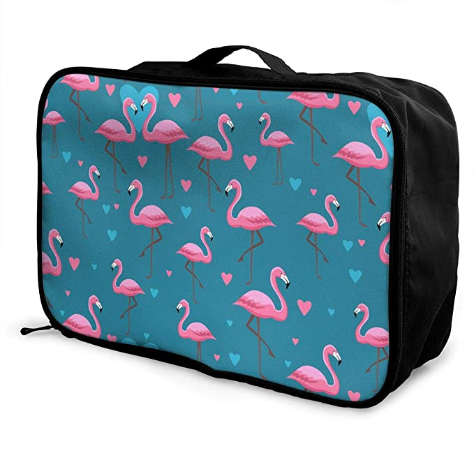 fb4cf62e1099 Amazon.com: Pink Flamingos2 Pattern Weekender Tote Bag Carry On ...