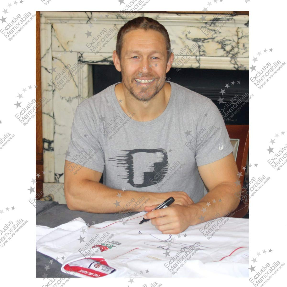 Exclusive Memorabilia Jonny Wilkinson Signed England Rugby Shirt With Respect