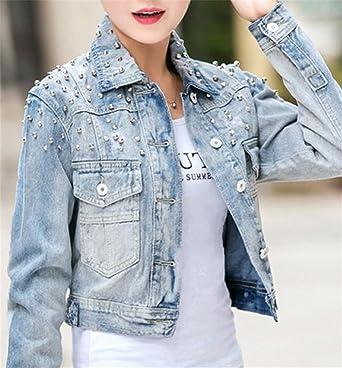10fcd0ce4c Amazon.com: Taylor Heart Unique;stylish Women's Slim Denim Jacket ...