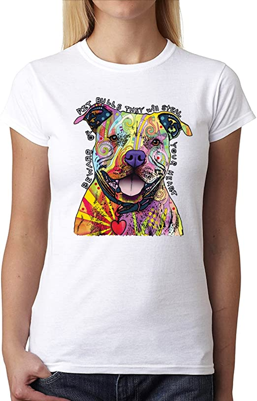 Pitbull Dog Best Friend Womens T-shirt XS-3XL