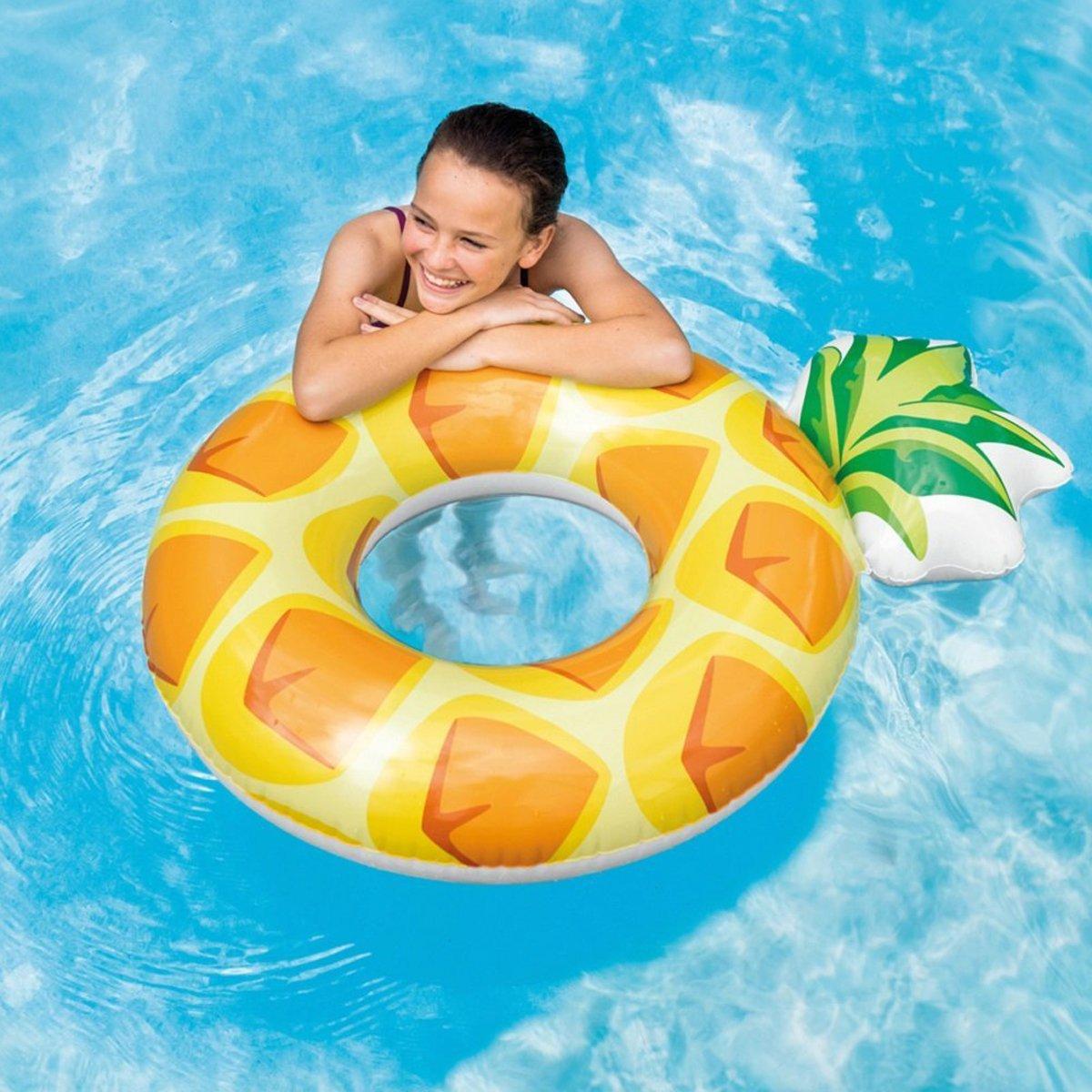 Dabuty Online, S.L. Flotador Piña Hinchable Diseño Amarillo Adulto Medidas 117x86 cm. Flotador Fruta para Playa o Piscina.: Amazon.es: Hogar