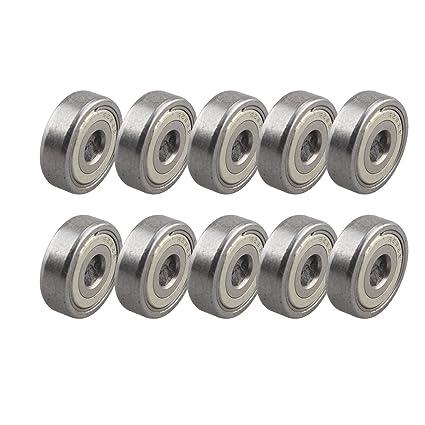 10 piezas 625ZZ rodamiento de bolas en miniatura de metal blindado ...