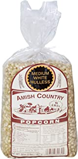product image for Amish Country Popcorn | 2 lb Bag | Medium White Popcorn Kernels | Old Fashioned with Recipe Guide (Medium White - 2 lb Bag)