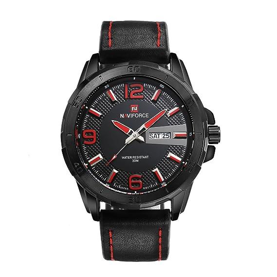 El deporte ocasional de la calidad de los hombres asequibles estupendos mira relojes suaves de la correa de cuero simples únicos los relojes más nuevos los ...