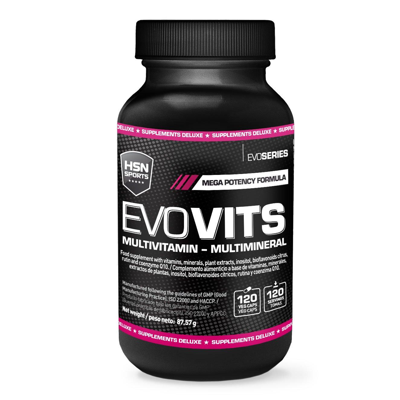 HSN Sports - Evovits Multivitaminas, Minerales - Complejo Multivitamínico para Mujer, Hombre, Veganos