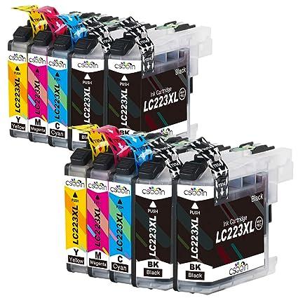 Cseein 10x Reemplazo LC223 Cartuchos de Tinta Alta Capacidad para ...
