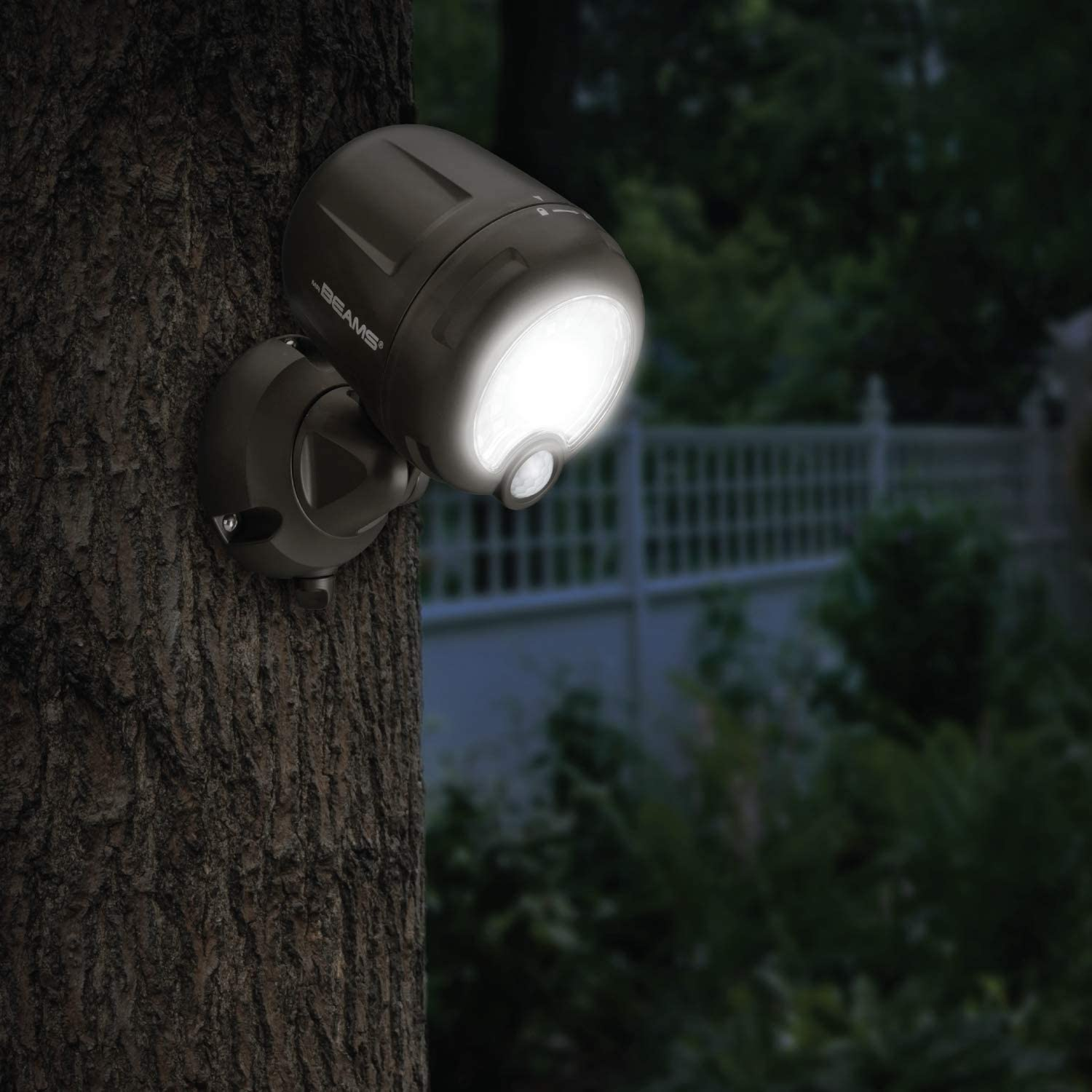 Mr. Beams MB360XT-Brn-01-00 Wireless 200 Lm Battery-Operated Outdoor Motion-Sensor-Activated LED Spotlight, Brown - -