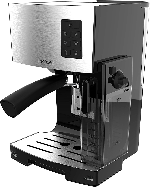 Cecotec Power Instant-ccino Cafetera Express Semiautomática, Tanque de Leche, Cappuccino en un Solo Paso, 20 Bares de Presión y Sistema Thermoblock, Inox: Amazon.es: Hogar