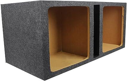 Car Audio Dual 10 Vented Square Sub Box Enclosure fits Kicker L7 Subwoofer