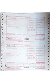 Tops for Year 2016 W-2 and W-3 Transmittal Dot Matrix Forms 8 1//2 x 11 Sold Loose in Packages 6 Forms W-2 and 1 Form W-3