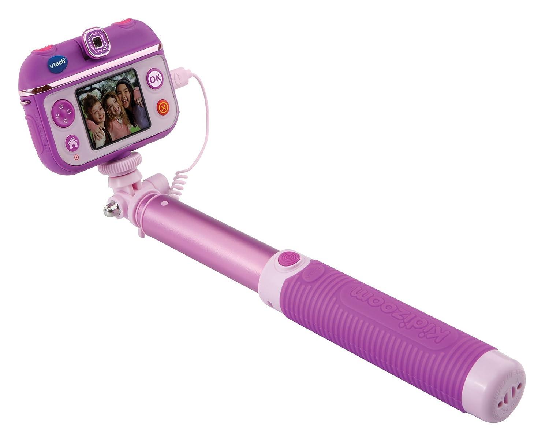 VTech - Selfie CAM Kidizoom para niños, cámara de Fotos, Color Morado, versión Inglesa