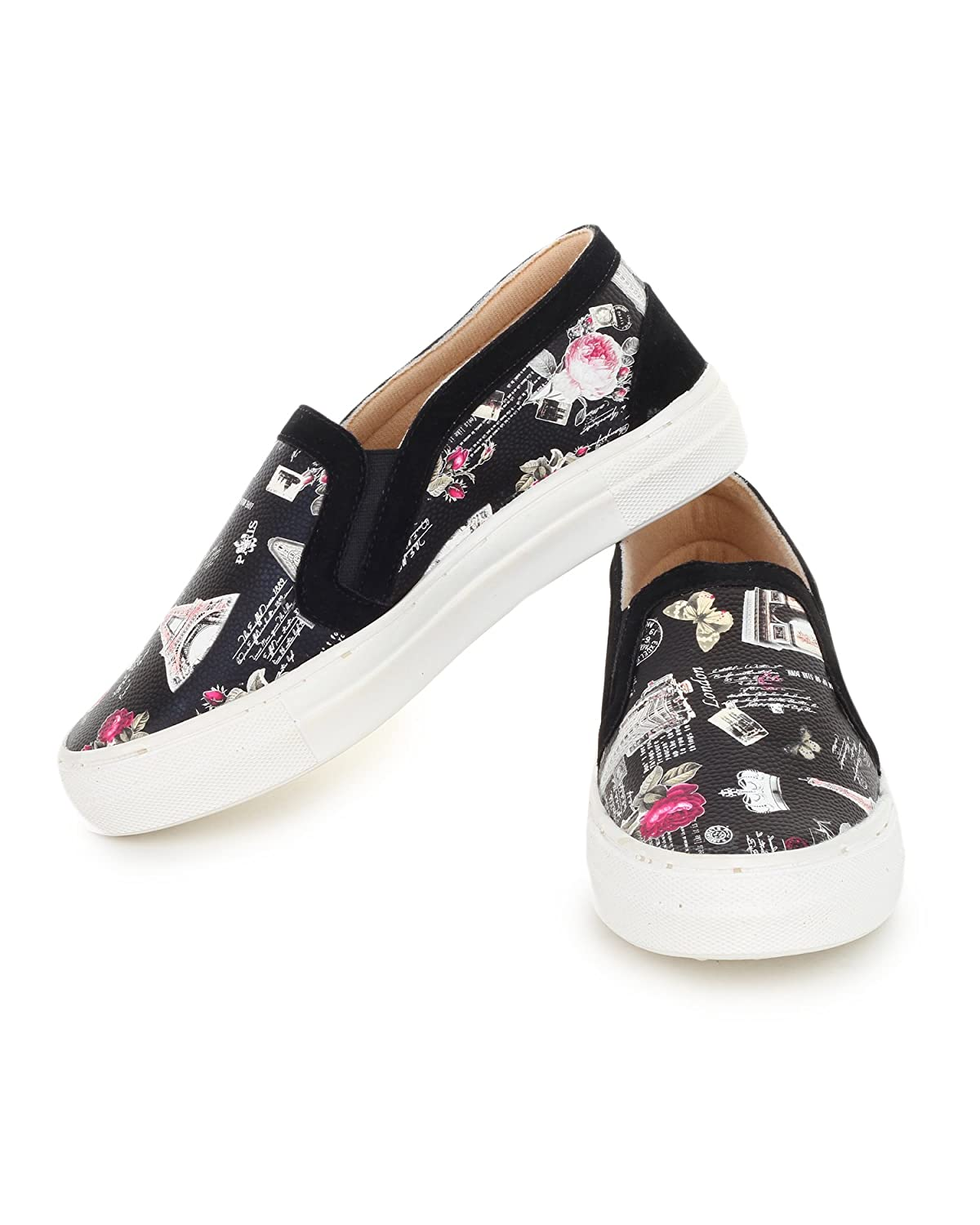 80ee0b9ac46 TRASE Comfy Black White Loafer   Sneaker Casual Shoes for Women Ladies for  Summers  Buy Online at Low Prices in India - Amazon.in