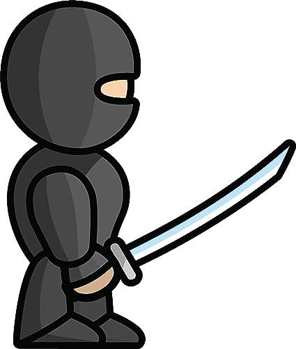 Amazon.com: Simple Cute Warrior Soldier Cartoon Emoji Vinyl ...