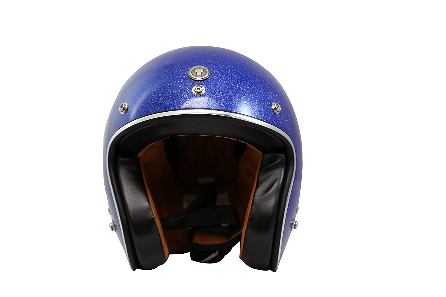 Blueberry Blue, XX-Large TORC T50 Route 66 3//4 Helmet with Super Flake Speciality Paint