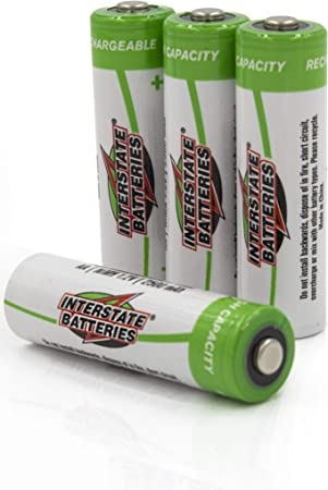 Amazon Com Interstate Batteries Aa Rechargeable Battery 4 Pack All Purpose 1 2v 2 5ah Nimh Nic1460 Electronics