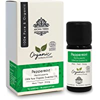 Peppermint Organic Essential Oil - Aroma Tierra - Pure, Natural - 10 ml