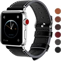 Apple Watch Band 44mm 42mm 40mm 38mm, 8 Colors Fullmosa Wax Leather iWatch Band/Strap for Apple Watch Series 5, Series 4, Series 3, Series 2, Series 1