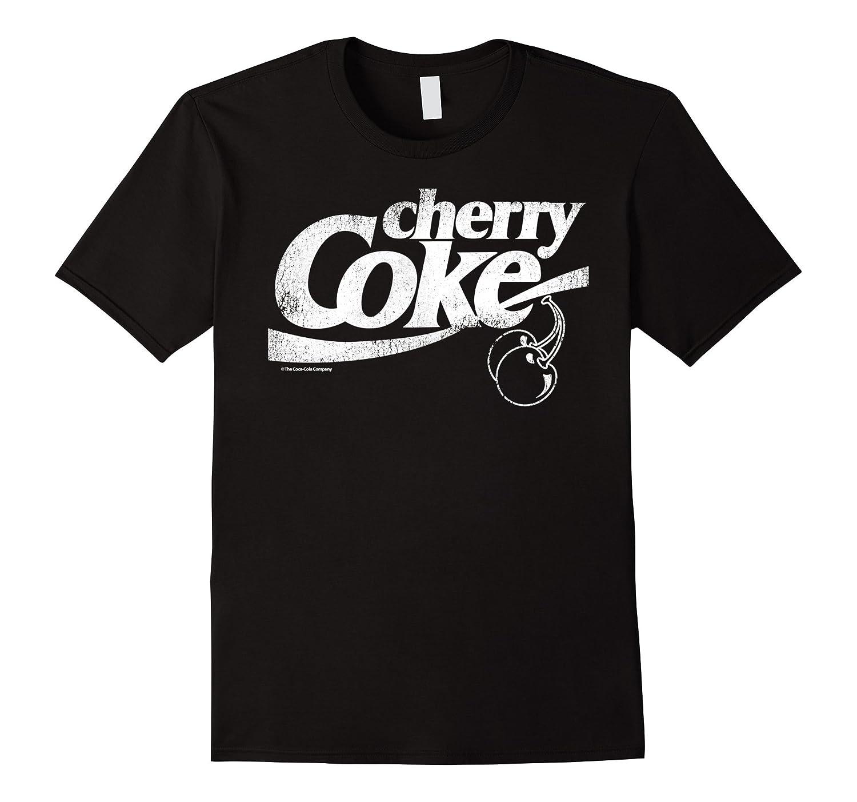 Coca-Cola Vintage Retro Cherry Coke Logo Graphic T-Shirt-FL
