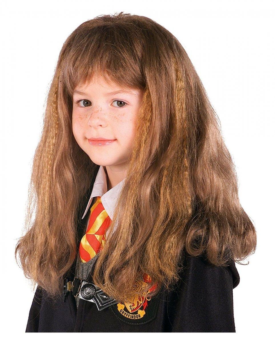 Hermine Granger Perücke als Harry Potter Lizenprodukt für Mädchen Horror-Shop