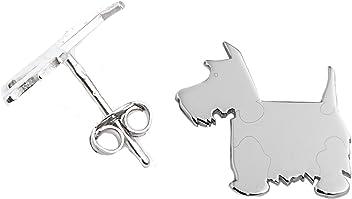 SCOTTISH TERRIER Hunde Ohrstecker 925 Sterling Silber Schmuck 003OP