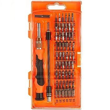 Destornillador magnético, iAmer 58-in-1 con 54 puntas magnético conductor Kit, Kit de herramientas de reparación de electrónica para Xbox/teléfono ...