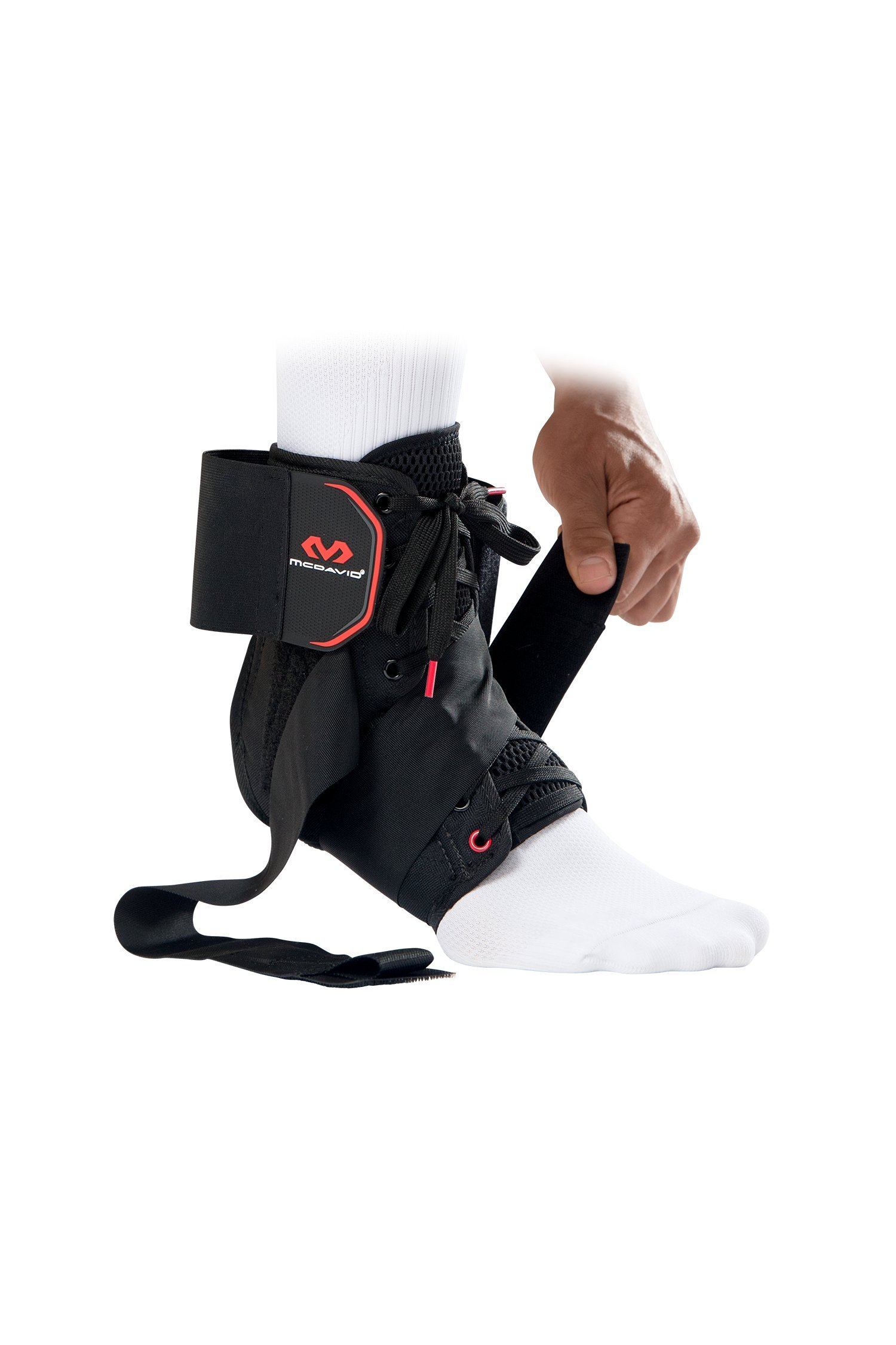 McDavid Level 3 Ankle Brace with Straps, Gray, X-Small by McDavid (Image #3)