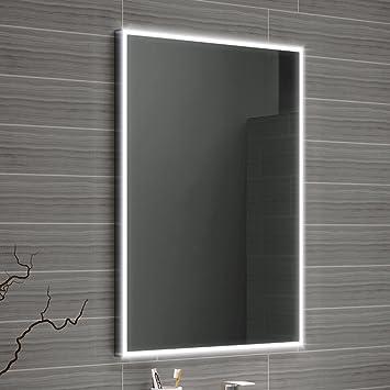 500 x 700 mm designer illuminated led bathroom mirror light sensor 500 x 700 mm designer illuminated led bathroom mirror light sensor demister ml4001 aloadofball Image collections