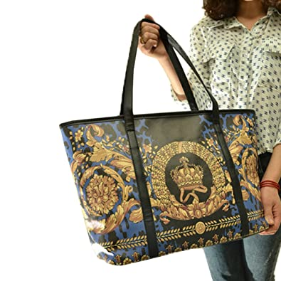 7ed89d271440 Top Shop Womens Leather Vintage Printing Totes Shoulder Bags Handbags Hobos  Blue Satchels