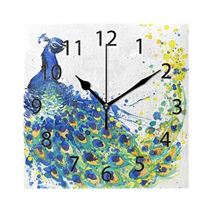 Amazon.com: XiangHeFu Wall Clock,Square 8x8 Inches Silent ...