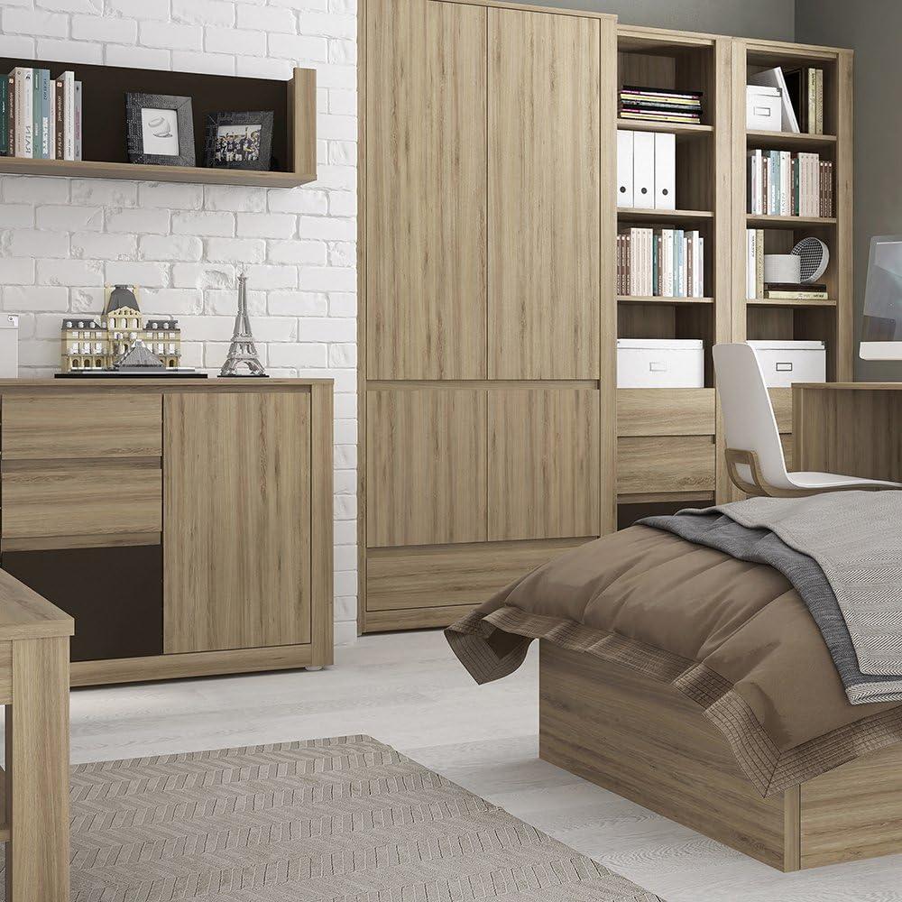 Oak Melamine 1 88x40x77.5 cm Furniture To Go Hobby 3 Drawer 1 Door Cabinet