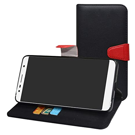 Labanema Alcatel 3c Funda, Slim Flip Cover Carcasa Cartera de Cuero PU Caso Monedero Multi-Angle con Soporte para Alcatel 3c (con 4 en 1 Regalo ...