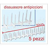 5 metri dissuasori di picchi anti piccione di plastica 2 for Dissuasori piccioni amazon