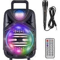 Kacsoo Bluetooth Portable Karaoke 8'' Subwoofers Wireless PA System
