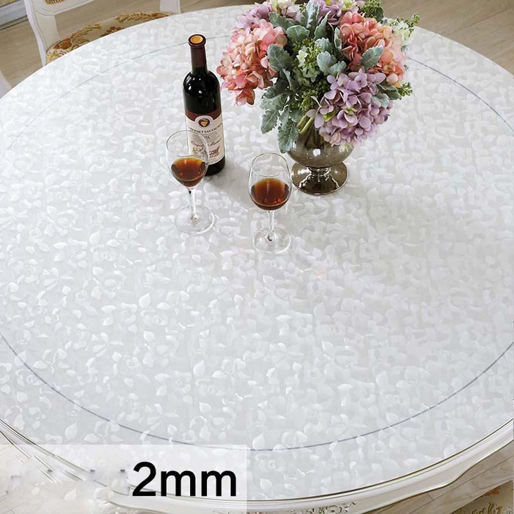 ZHOU Tovaglia a Olio rossoonda Anti-Caldo con tovaglia rossoonda in PVC, 2.0mm, Diameter 130cm