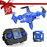 DROCON Mini RC Drone for Kids, Portable Pocket Quadcopter with Altitude Hold Mode, One-Key Take-Off & Landing, 3D Flips and Headless Mode, Easy to Fly for Beginners, Great Gift