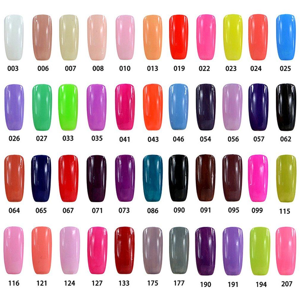 Elite99® Pick Any 8 Colours Soak Off Gel Nail Polish Top Base Coat 8pcs Manicure Gift Set Bailun