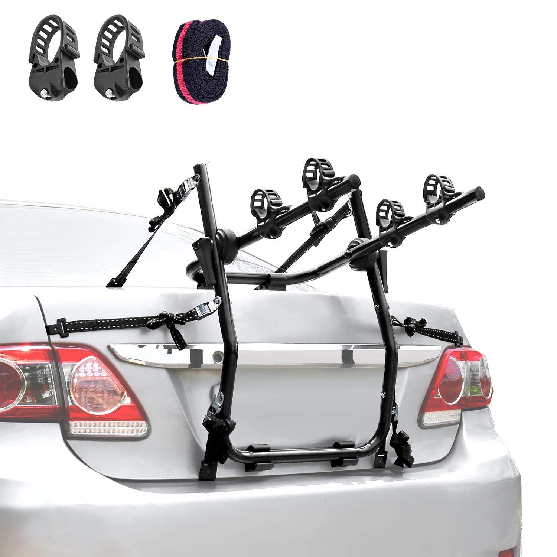 XCAR 2-Bike Trunk Mount Bike Rack Bicycle Carrier Universal Fits Most Sedans, Hatchbacks, Minivans, SUVs
