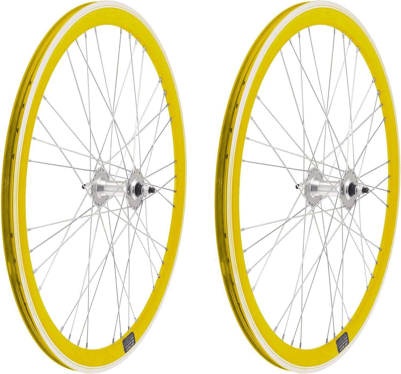 ONOGAL 2X Llanta Rueda para Bicicleta Fixed Fixied de 700 Aluminio ...