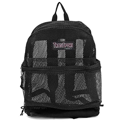 Image Unavailable. Image not available for. Color  17 quot  Transport See  Through Mesh Backpack  ... d0f8d2c57f