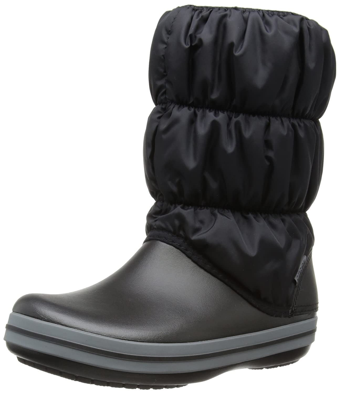 Crocs Winter Puff botas, botas de Nieve para mujer negro (negro Charcoal 070)