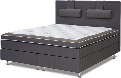 Cama con somier cama 210 x 200 cm gris: Amazon.es: Bricolaje ...