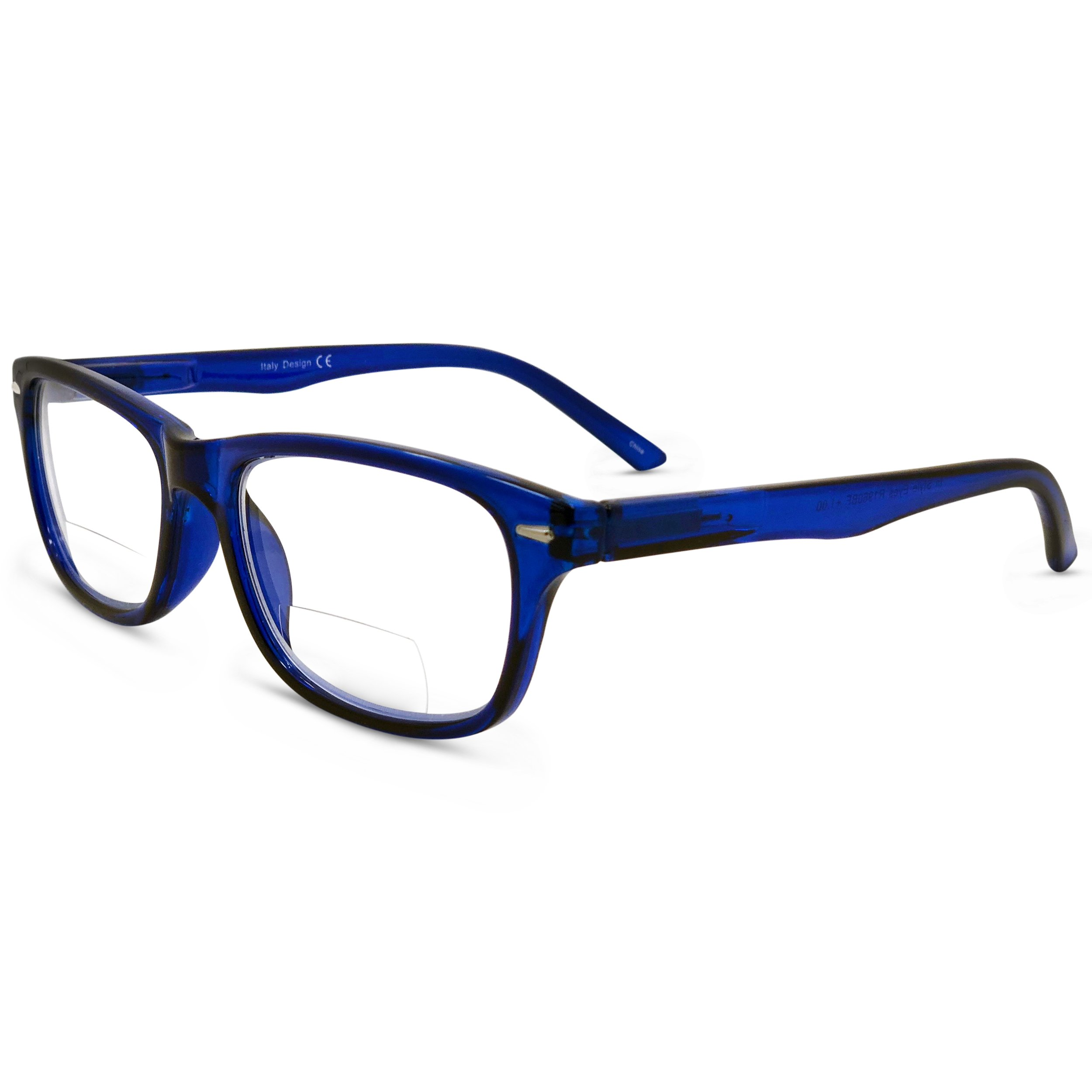 9e1cdd07fca3 Galleon - In Style Eyes Seymore Retro BiFocal Reading Glasses Blue 3.00