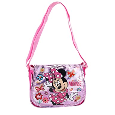 Disney Girl s Minnie Mouse Shoulder Crossbody Bag, Pink  Amazon.co ... 42c906b3df