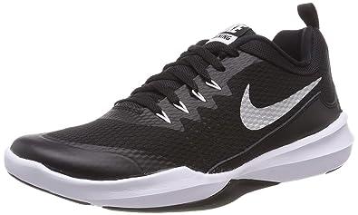 e9515da3d76b Nike Mens Legend Trainer Black Metallic Silver White Size 7.5
