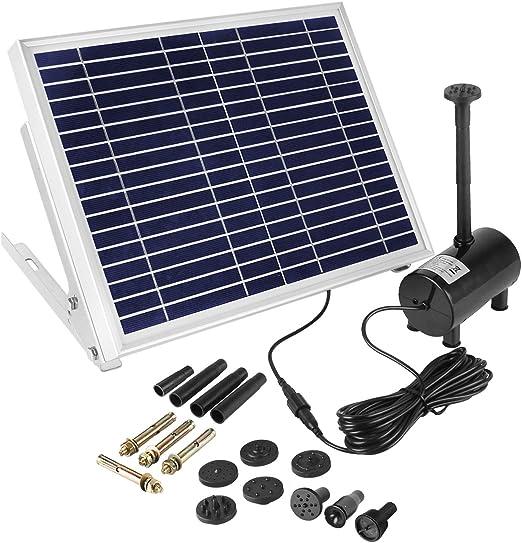 COCOMIA Solar Fuente Bomba, Solar Bomba de Estanque Kit, Fuente de Jardín Solar para Estanque de
