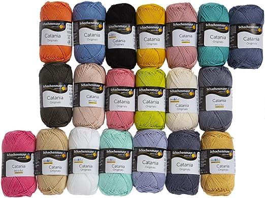 20 madejas SMC Catania Originals hilo, 100% algodón, total 35.2 oz ...