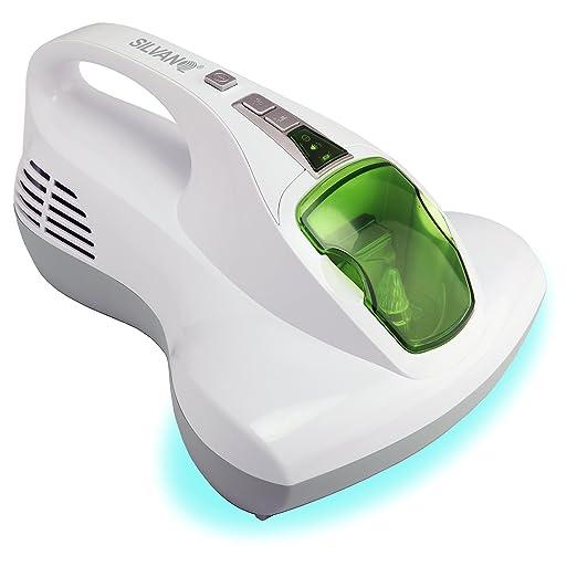 SILVANO Aspirador de colchones, Almohadas, sofás y Cortinas con Doble luz UV-A y Filtro HEPA Multicapa