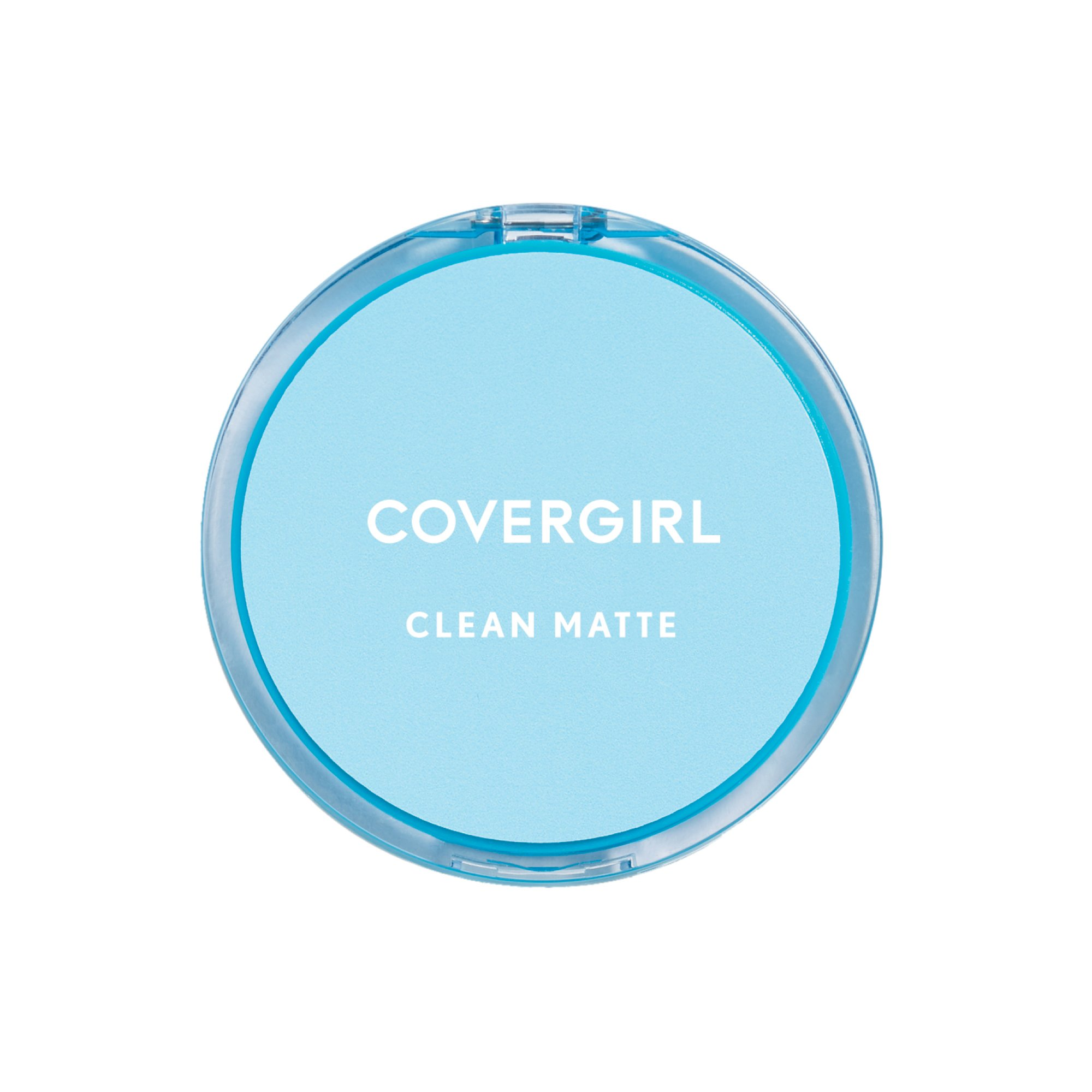 COVERGIRL Clean Matte Pressed Powder, 1 Container (0.35 oz), Classic Ivory Warm Tone, Oil Control Face Powder, Fragrance Free (packaging may vary)